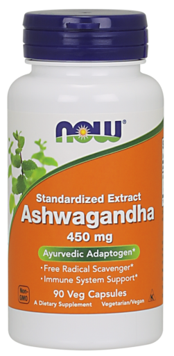 NOW Ashwagandha 450mg, 90 kapsúl/