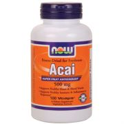 NOW ACAI 500 mg 100 VEG CAPSULES